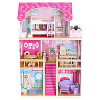 Игровой кукольный домик для барби 4119 Tima Toys + 2 куклы