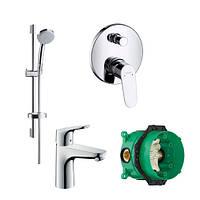 Набор смесителей Hansgrohe Focus скрытого монтажа для ванны (31607000+27772000+31945000+01800180)