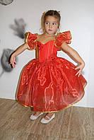 Детское нарядное платье красного цвета