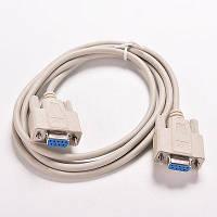 Нуль-модемный кабель RS232 DB9 COM мама-мама 1.4м