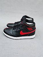 Кроссовки Nike Air Jordan 1 Black/Red реплика