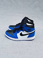 Кроссовки Nike Air Jordan 1 Blue/White реплика