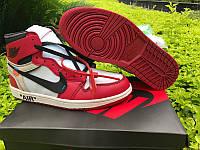 Кроссовки Nike OFF-WHITE x Air Jordan 1 реплика