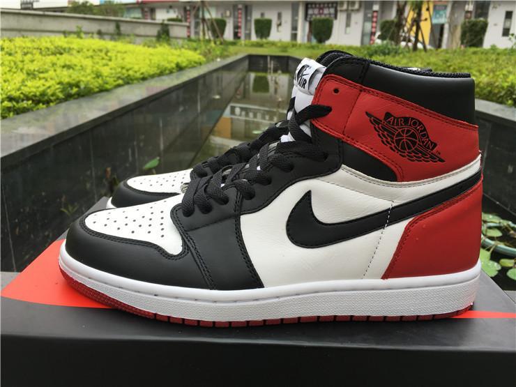 0344a928 Кроссовки Nike Air Jordan 1 Black/White/Red реплика - Интернет-магазин  кроссовок