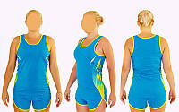 Форма для легкой атлетики женская X-511W-BL(XL) (полиэстер, р-р XL-159-163см(50-55кг), синий)