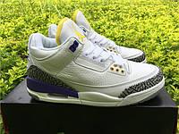 Кроссовки Nike Air Jordan 3 Purple Cement реплика