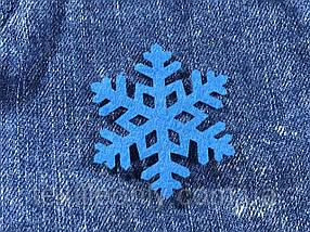 Сніжинка декор термо колір синій 50х43 мм