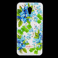 Чехол накладка для Meizu M5 Note силиконовый Diamond Cath Kidston, Прекрасные незабудки
