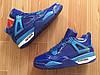 Кроссовки Nike Air Jordan 4 Blue Patent реплика