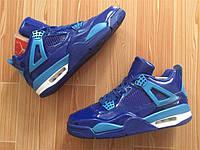 Кроссовки Nike Air Jordan 4 Blue Patent