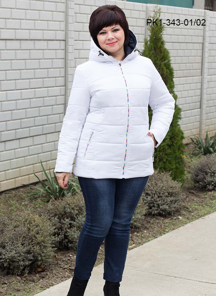 Женская демисезонная короткая куртка / размер 48,50,56