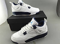 Кроссовки Nike Air Jordan 4 Retro BG Legend Blue реплика, фото 1