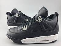Кроссовки Nike Air Jordan 4 Oreo реплика, фото 1