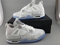Кроссовки Nike Air Jordan 4 30th Anniversary Laser реплика, фото 1