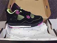Кроссовки Nike Air Jordan 4 GS Fuchsia реплика, фото 1
