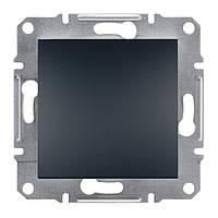Выключатель кнопка Schneider Electric Asfora антрацит, алюминий, бронза,сталь