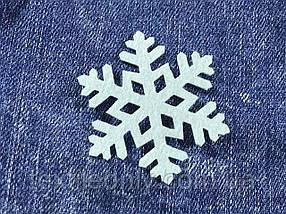 Сніжинка декор термо колір блакитний 50х43 мм