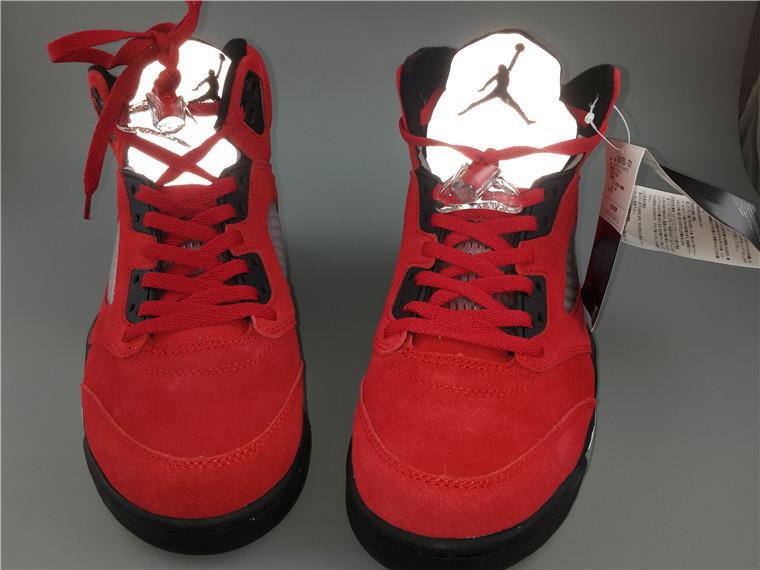 f539be173930c8 Кроссовки Nike Air Jordan 5 Retro Raging Bull Red Suede Реплика — в ...