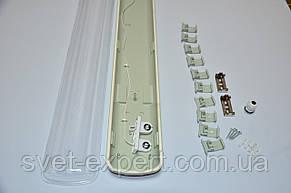 Светильник промышленный / пылевлагозащищенный ЛПП 2*600мм IP65 , фото 3