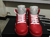Кроссовки Nike Air Jordan 5 Retro GS Valentines Day реплика, фото 1
