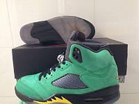 Кроссовки Nike Air Jordan 5 Retro Oregon Ducks реплика, фото 1
