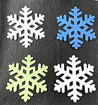 Декор Снежинка цвет белый термо 50х43 мм, фото 2