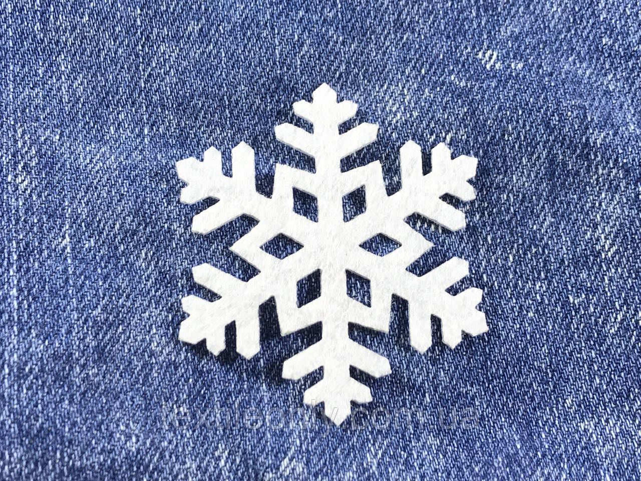 Декор Снежинка цвет белый термо 50х43 мм