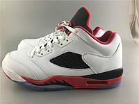 Кроссовки Nike  Air Jordan 5 Low Fire Red реплика, фото 1