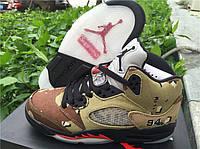 Кроссовки Nike  Air Jordan 5 Supreme 824371 201 реплика, фото 1