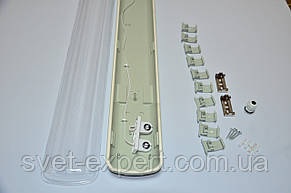 Светильник промышленный / пылевлагозащищенный ЛПП с LED лампами  18W IP65 2*600мм 6400K , фото 3