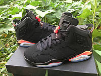 Кроссовки Nike Air Jordan 6 Retro Black Infrared GS реплика, фото 1