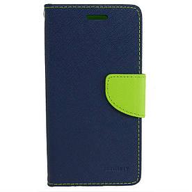 Чехол книжка для Samsung Galaxy J3 Prime J327 боковой с отсеком для визиток, Mercury GOOSPERY Синий