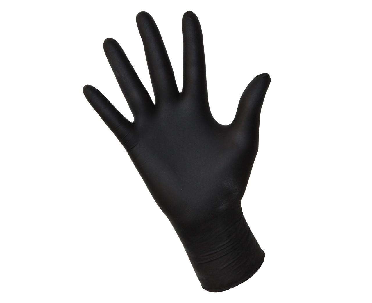 Нітрилові рукавички Чорні 100шт / уп. (50 пар) щільні