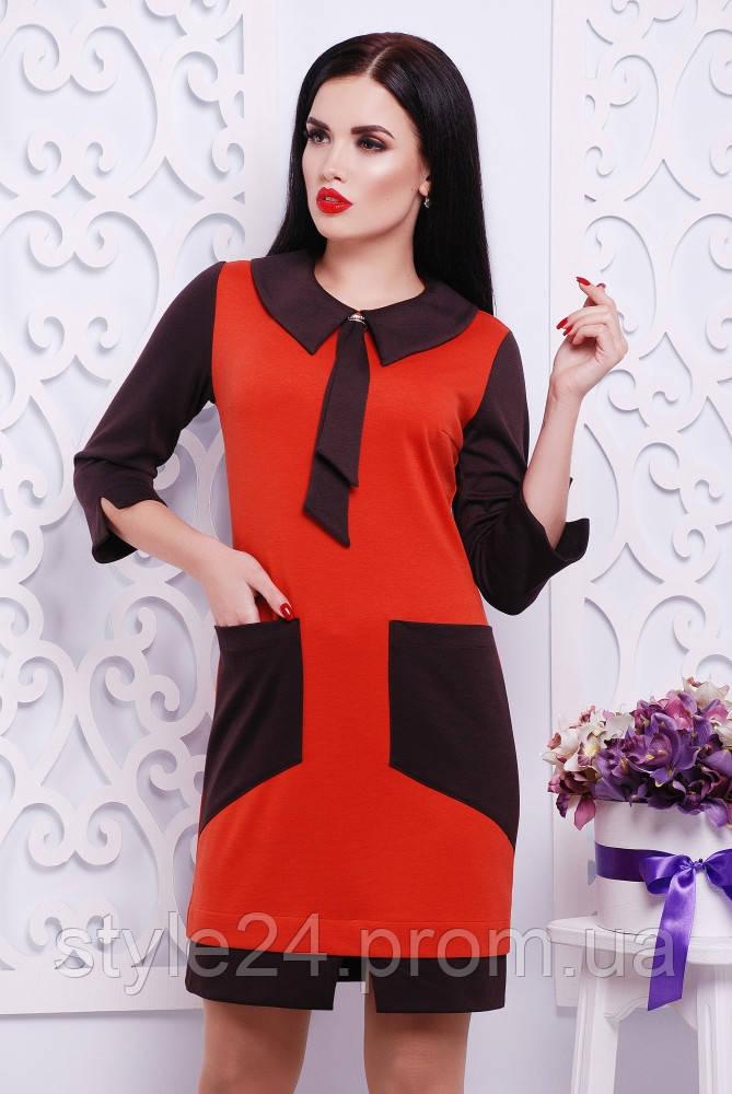ЖІноче плаття з галстуком та кишенями.Р-ри 42-50  продажа 8a1f3a421d54e
