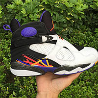 Кроссовки Nike Air Jordan 8 Retro BG GS Three-Peat реплика, фото 1