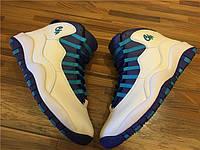 Кроссовки Nike Air Jordan 10 Retro BG GS Charlotte реплика, фото 1