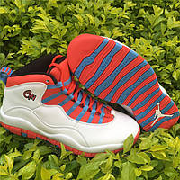 Кроссовки Nike Air Jordan 10 Retro BG GS Chicago реплика, фото 1