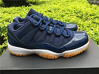 Кроссовки Nike Air Jordan 11 Retro Low Navy Gum реплика, фото 1