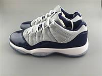 Кроссовки Nike Air Jordan 11 Retro Low BG GS Georgetown реплика, фото 1