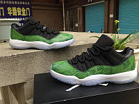 Кроссовки Nike Air Jordan 11 Retro Low Green Snakeskin реплика, фото 1