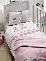 Gelin home КПБ ORGU розовый для новорожденных + покрывало  розовый