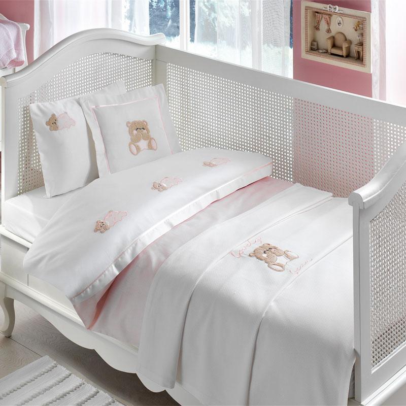Tivolyo home КПБ BEBE LOVELY pembe рожевий