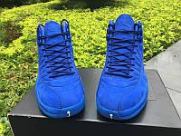 Кроссовки Nike Air Jordan 12 Retro PSNY Blue реплика, фото 1
