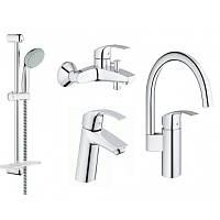 Смеситель для умывальника Grohe Eurosmart 123248MK комплект Смесители для кухни, ванны, умывальника, стойки S-Size