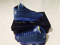 Кроссовки Nike Air Jordan 13 Retro GS Blue реплика, фото 1