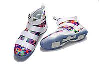 Кроссовки Nike Lebron 11 White Rainbow