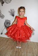 Детское нарядное платье красное