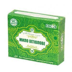 Натуральное мыло ихтиоловое, Cocos, 100 г, фото 2