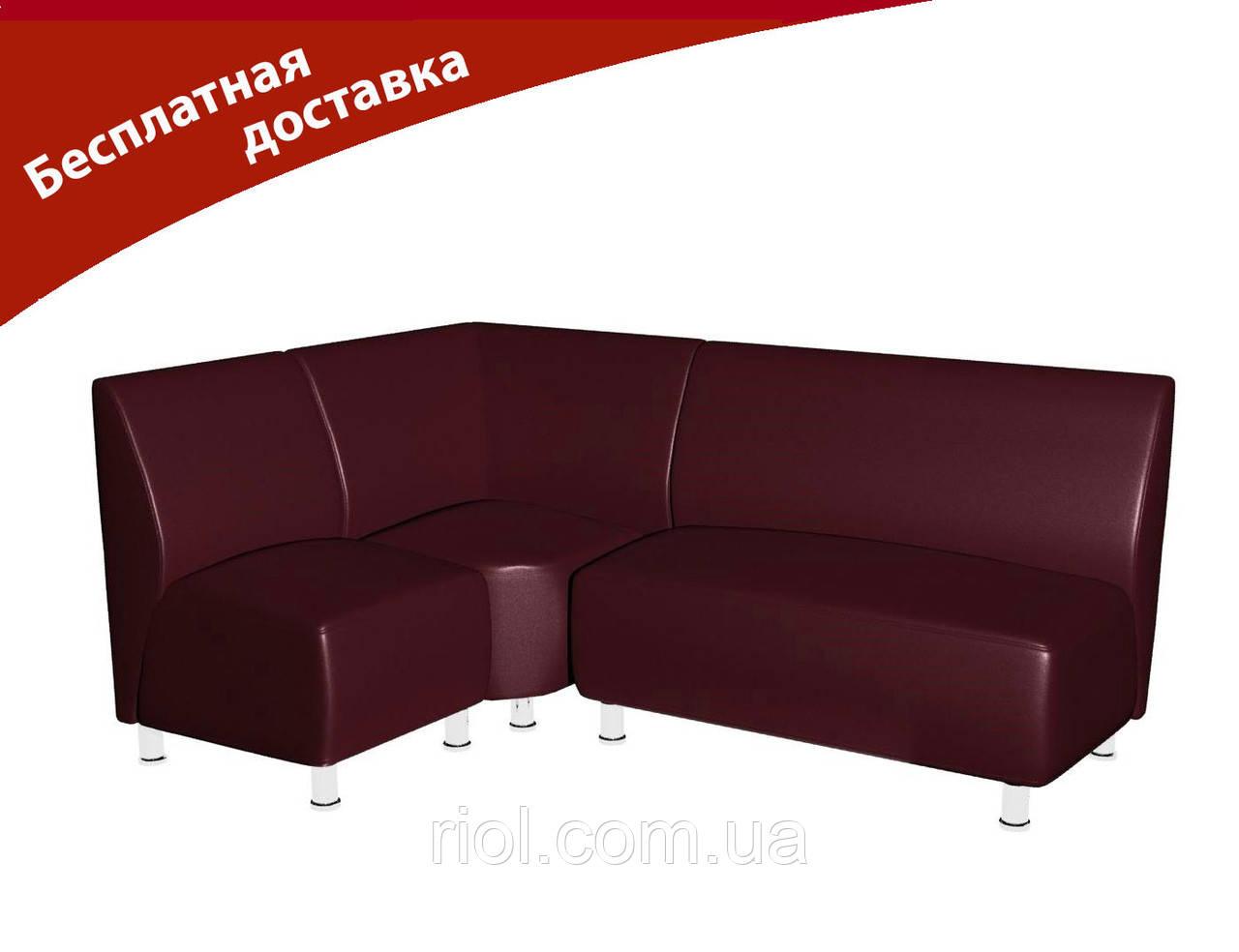 Комплект мягкой мебели для офиса и кафе бордо