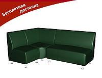Комплект мягкой мебели для офиса и кафе зеленый